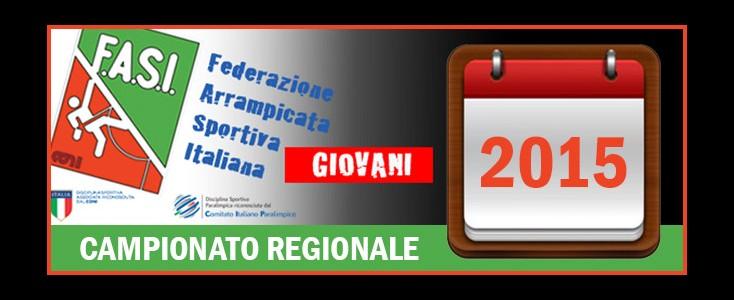 CAMPIONATO REGIONALE 2015 – CALENDARIO